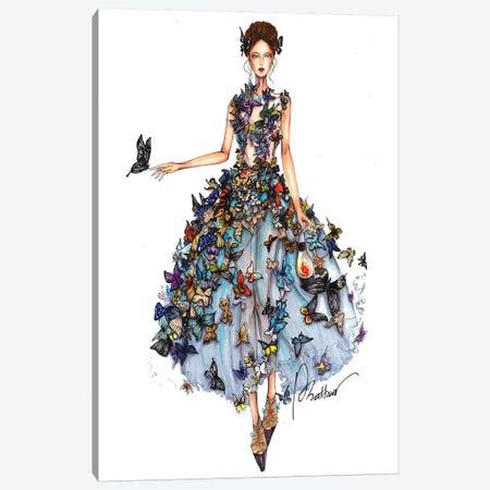 Butterfly Dress II Canvas Print #ETR6} by Eris Tran Canvas Print