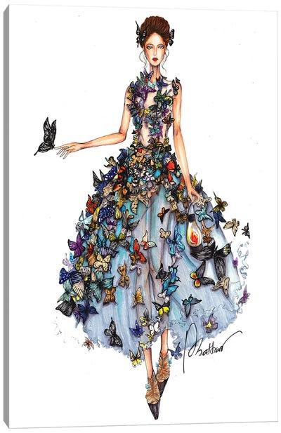 Butterfly Dress II Canvas Art Print
