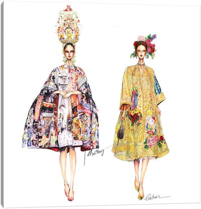 Couple Dolce Gabbana Canvas Art Print