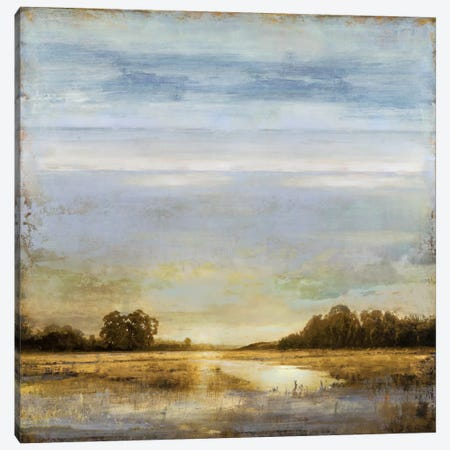 Pond's Edge Canvas Print #ETU10} by Eric Turner Canvas Art Print