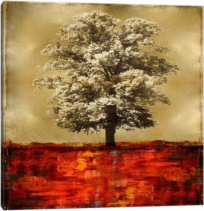 Stately - Red On Gold Canvas Print #ETU14