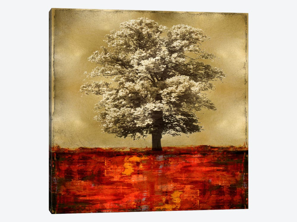 Stately - Red On Gold by Eric Turner 1-piece Canvas Artwork