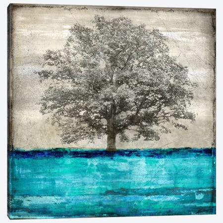 Majestic - Aqua Canvas Print #ETU7} by Eric Turner Canvas Artwork