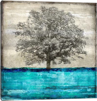 Majestic - Aqua Canvas Art Print