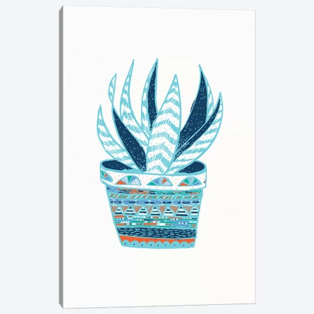 Succulent, Blue Canvas Print #ETV106} by ETTAVEE Canvas Print
