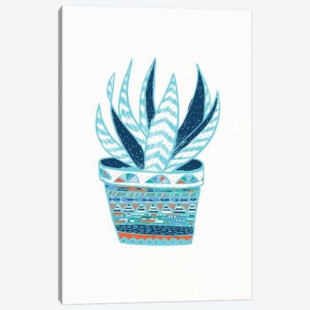 Succulent, Blue Canvas Print #ETV106} by ETTAVEE Canvas Print