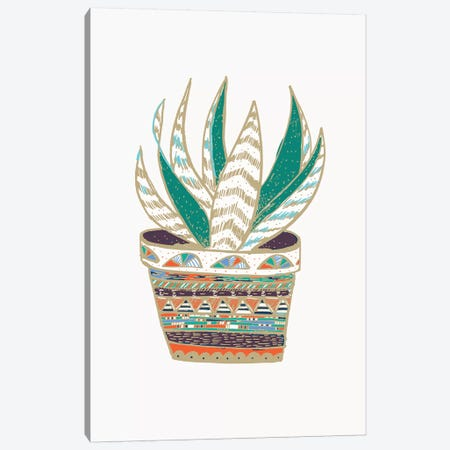 Succulent, Green Canvas Print #ETV107} by ETTAVEE Art Print