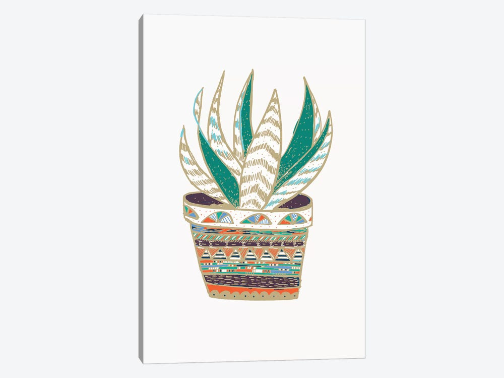Succulent, Green 1-piece Canvas Print