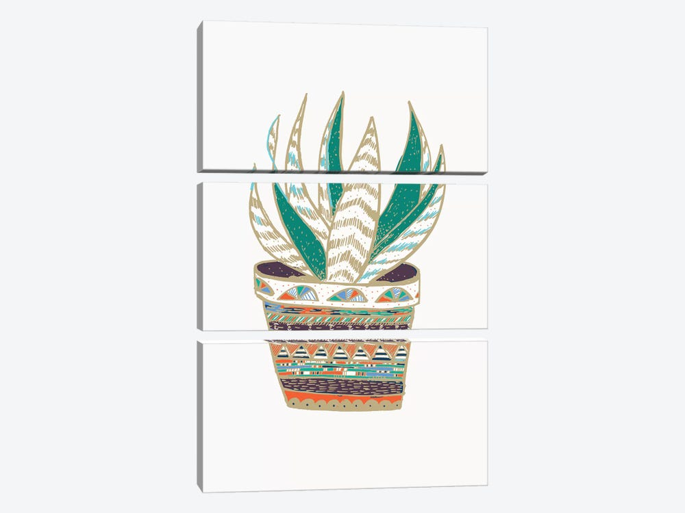 Succulent, Green 3-piece Canvas Art Print