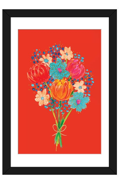 Bouquet VII Framed Art Print