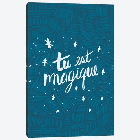 Tu est Magique, Tribal Canvas Print #ETV112} by EttaVee Art Print
