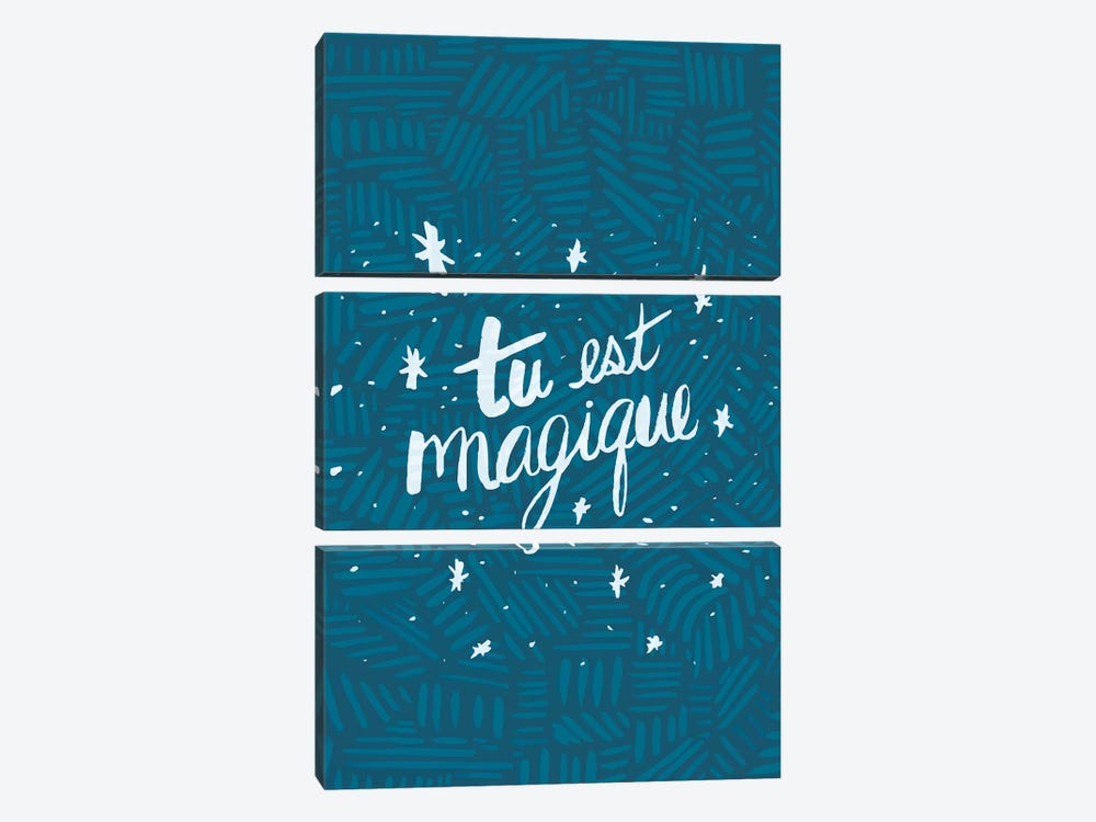 Tu est Magique, Tribal by EttaVee 3-piece Canvas Print