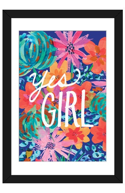 Yes Girl Framed Art Print