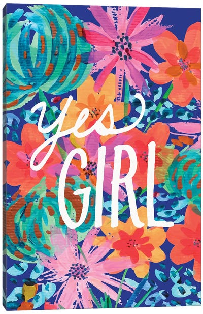 Yes Girl Canvas Art Print