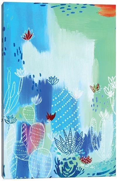 Blue Desert Canvas Art Print