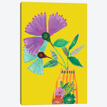 Boho Flowers II Canvas Print #ETV116} by ETTAVEE Canvas Wall Art