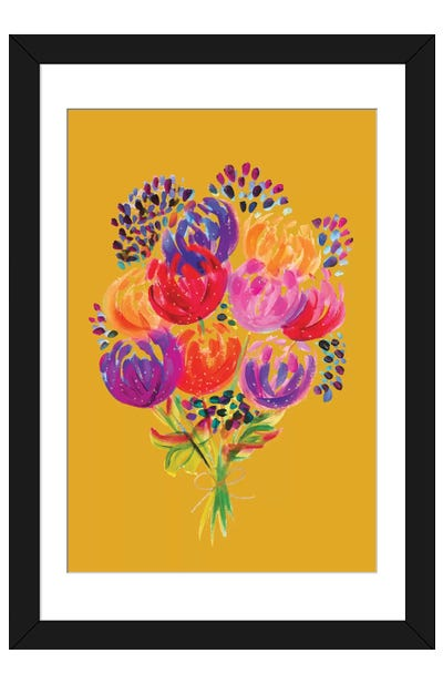 Bouquet VIII Framed Art Print