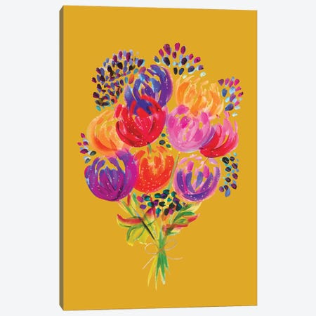 Bouquet VIII Canvas Print #ETV11} by ETTAVEE Canvas Wall Art