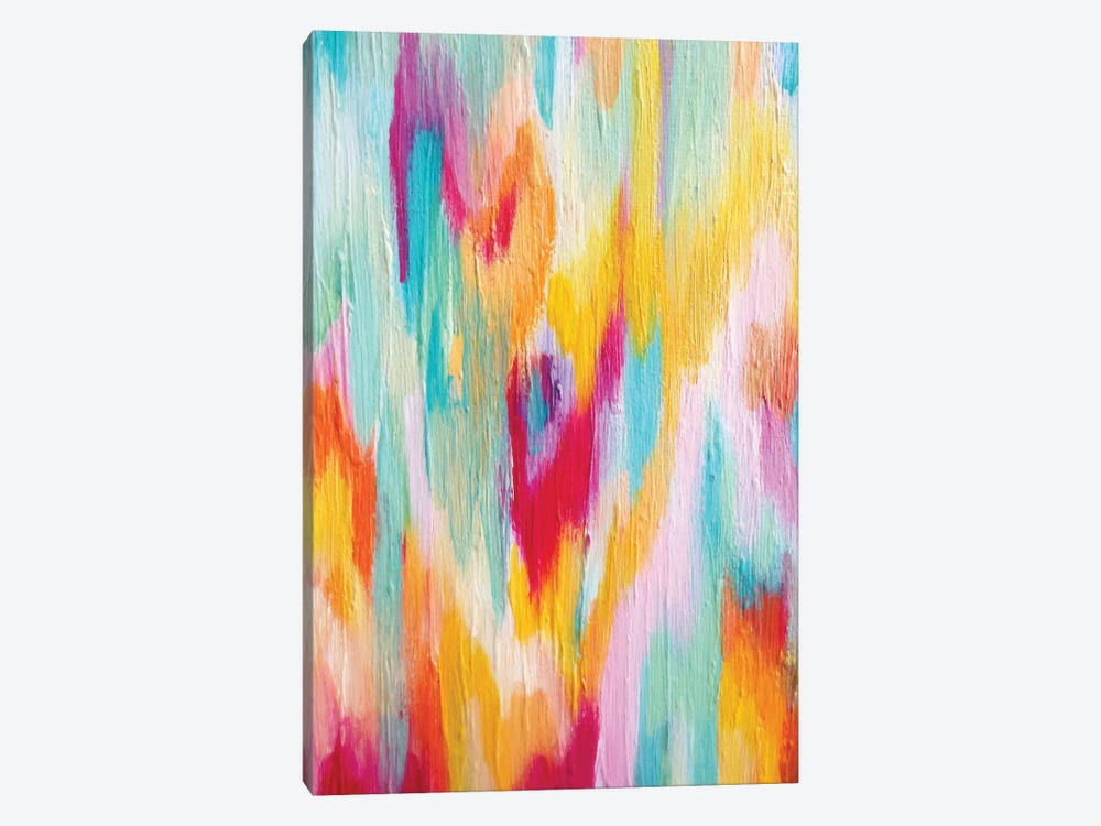 Bright Brush Strokes I by ETTAVEE 1-piece Canvas Artwork