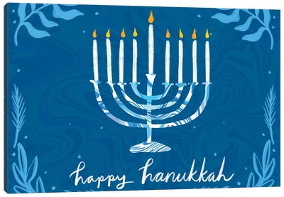 Happy Hanukkah I Canvas Art Print