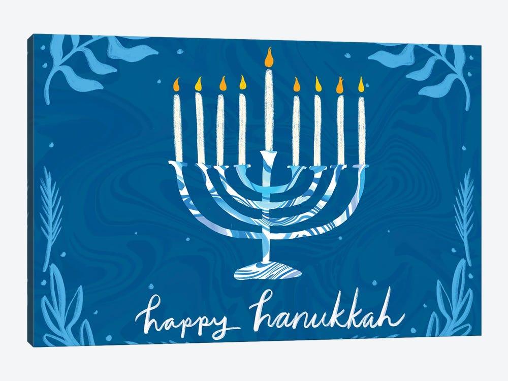 Happy Hanukkah I by ETTAVEE 1-piece Canvas Art