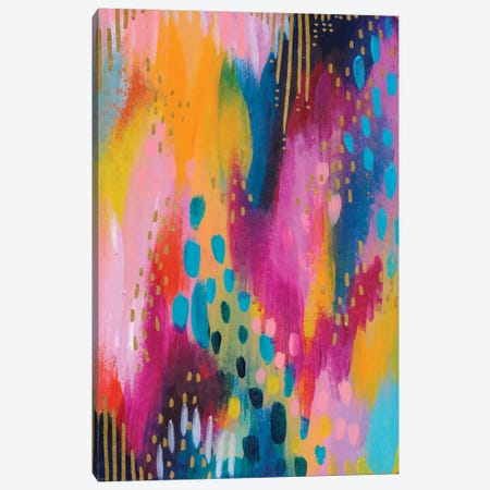 Bright Brush Strokes II Canvas Print #ETV13} by ETTAVEE Canvas Art