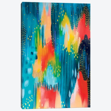 Bright Brush Strokes III Canvas Print #ETV14} by ETTAVEE Canvas Print