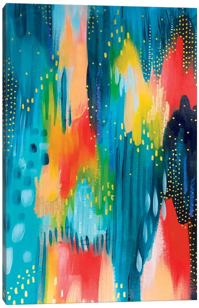 Bright Brush Strokes III Canvas Art Print