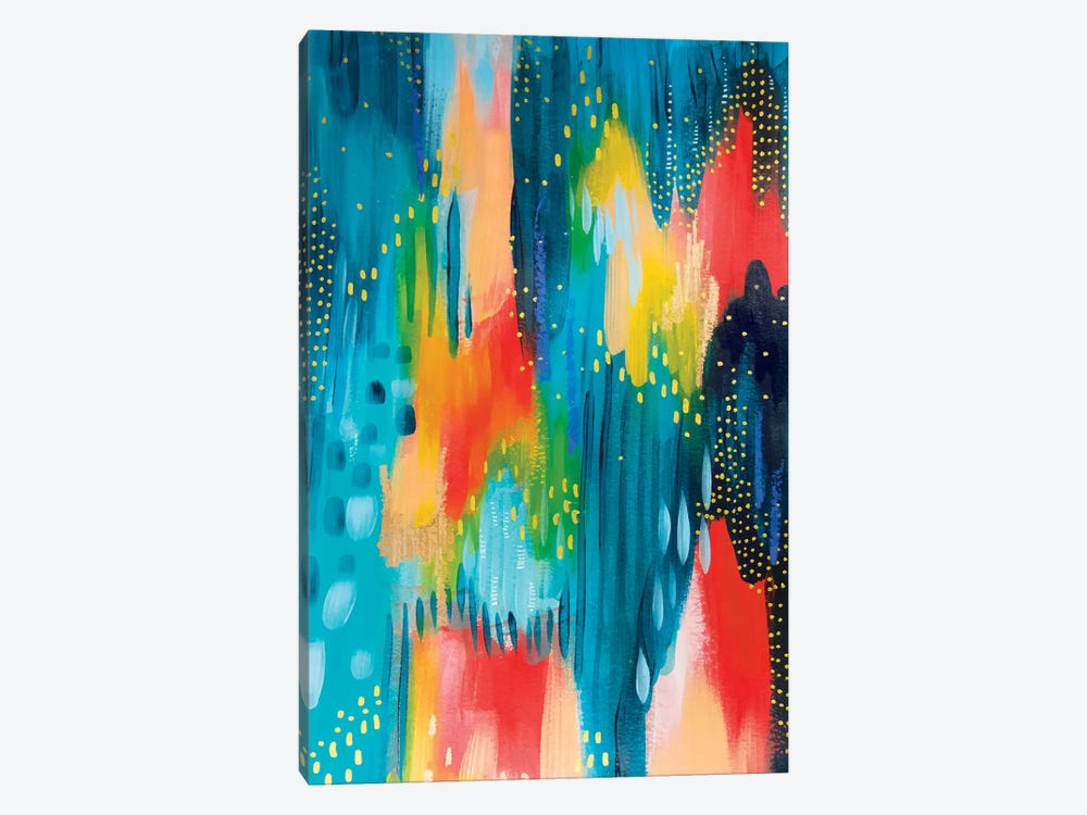Bright Brush Strokes III by ETTAVEE 1-piece Canvas Wall Art