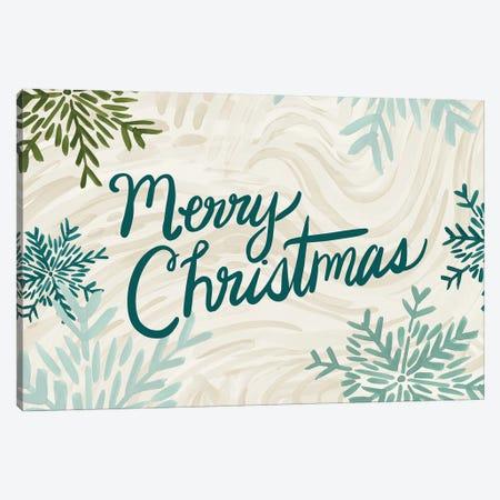 Snowflake Merry Christmas Canvas Print #ETV156} by ETTAVEE Canvas Wall Art