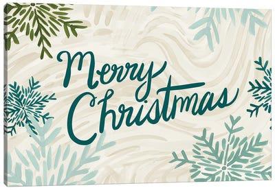 Snowflake Merry Christmas Canvas Art Print