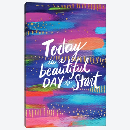 Start Today Canvas Print #ETV158} by ETTAVEE Canvas Print