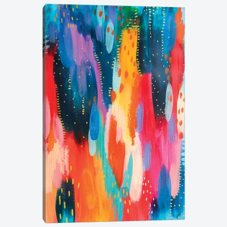 Bright Brush Strokes IV Canvas Print #ETV15} by ETTAVEE Canvas Art Print