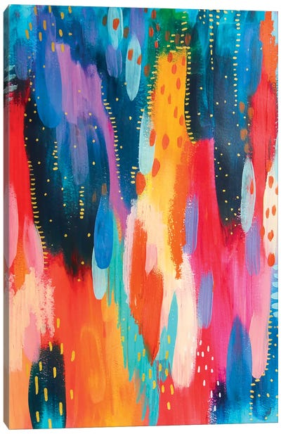 Bright Brush Strokes IV Canvas Art Print