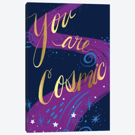 You Are Cosmic Canvas Print #ETV160} by ETTAVEE Canvas Wall Art