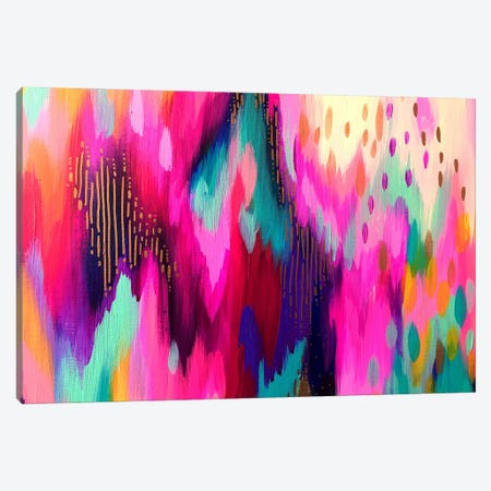 Bright Brush Strokes LXI Canvas Print #ETV162} by ETTAVEE Canvas Wall Art