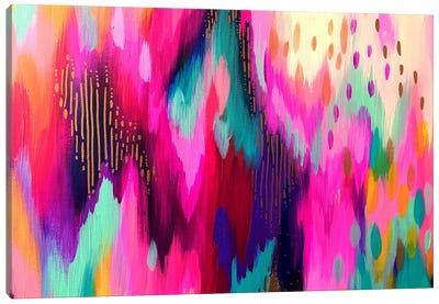 Bright Brush Strokes LXI Canvas Art Print