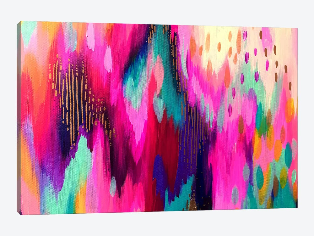 Bright Brush Strokes LXI by ETTAVEE 1-piece Canvas Wall Art