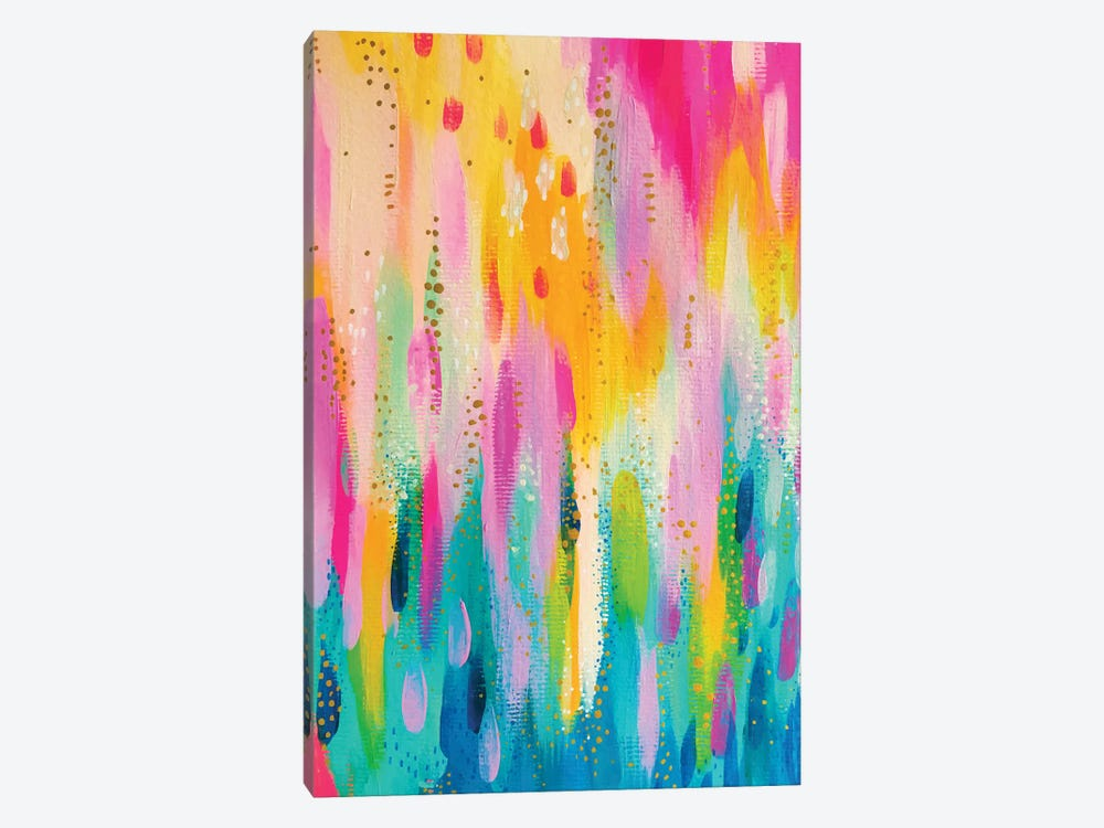 Bright Brush Strokes IX by EttaVee 1-piece Canvas Art