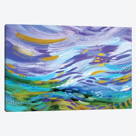 Bright Brush Strokes XCI Canvas Print #ETV175} by ETTAVEE Canvas Wall Art