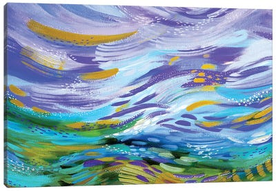 Bright Brush Strokes XCI Canvas Art Print