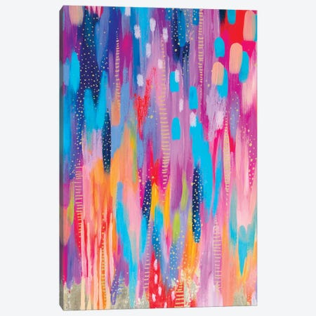 Bright Brush Strokes V Canvas Print #ETV18} by ETTAVEE Canvas Art