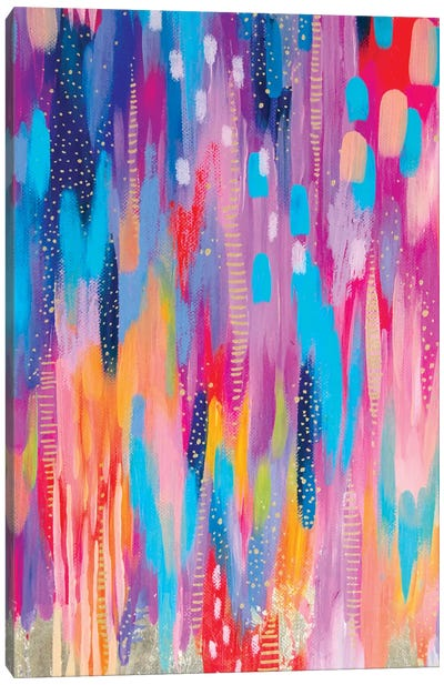 Bright Brush Strokes V Canvas Art Print