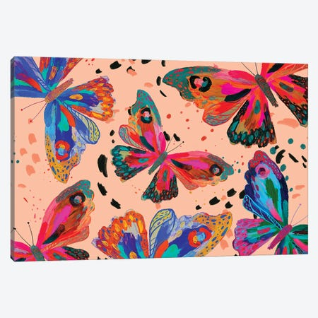Butterfly V Canvas Print #ETV195} by ETTAVEE Canvas Art