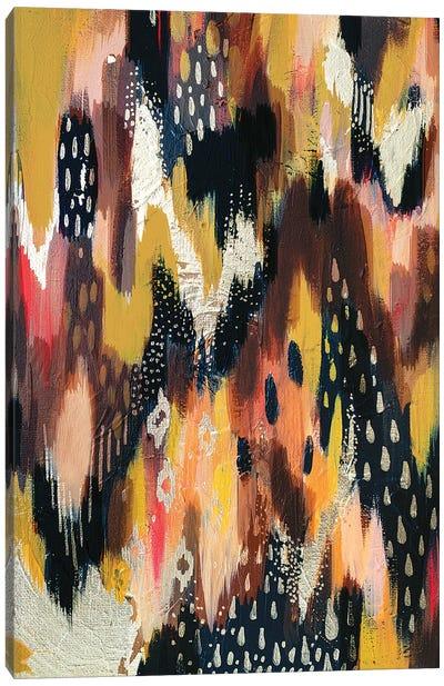 Dark Brush Strokes I Canvas Art Print