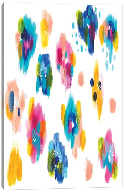 Bright Brush Strokes VI Canvas Art Print