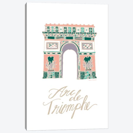 Arc de Triomphe Canvas Print #ETV1} by ETTAVEE Canvas Art