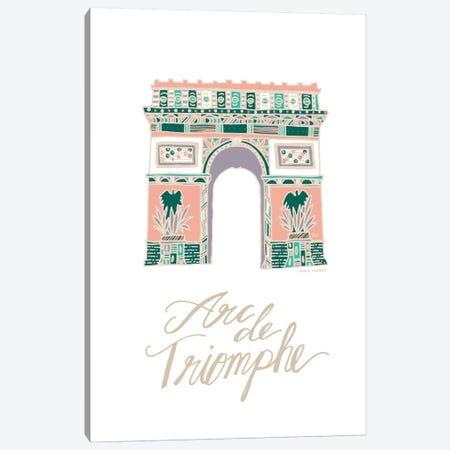 Arc de Triomphe Canvas Print #ETV1} by ETTAVEE Canvas Art