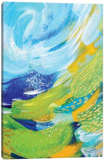 Bright Brush Strokes VII Canvas Art Print