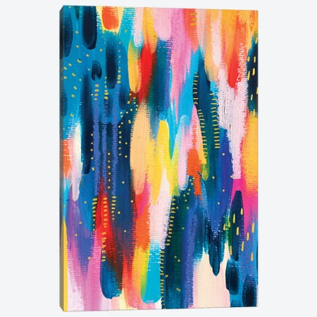 Bright Brush Strokes VIII Canvas Print #ETV21} by ETTAVEE Art Print
